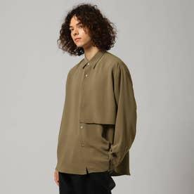 ナメラカツイルレイヤードシャツ (ベージュ)