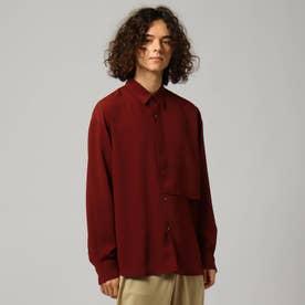 ナメラカツイルレイヤードシャツ (ボルドー)