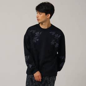 アデヤカ刺繍プルオーバー (ブラック)