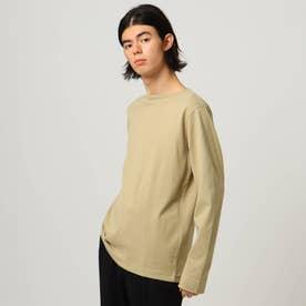 無地長袖バスクシャツ (ベージュ)