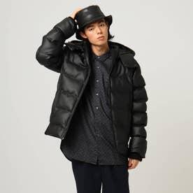 フード付き中綿ジャケット (ブラック)