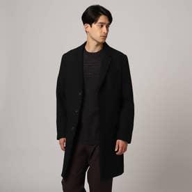 ヘリンボンツイードコート (ブラック)