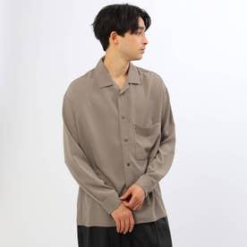 ドルマンオープンビッグシャツ (ベージュ)