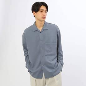 ドルマンオープンビッグシャツ (ブルー)