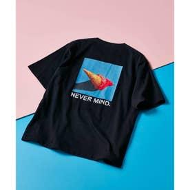 ICE CREAM PHOTOバックプリントTシャツ (ブラック)