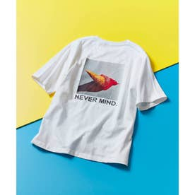 ICE CREAM PHOTOバックプリントTシャツ(ユニセックスアイテム) (ホワイト)