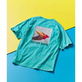 ICE CREAM PHOTOバックプリントTシャツ (ライトグリーン)
