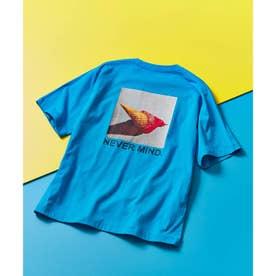 ICE CREAM PHOTOバックプリントTシャツ (ライトブルー)