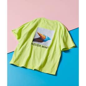 ICE CREAM PHOTOバックプリントTシャツ (レモンイエロー)