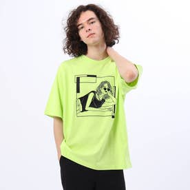 LINE ARTがーる Tシャツ (イエロー系)