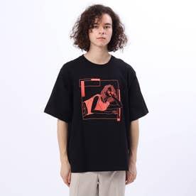 LINE ARTがーる Tシャツ (ブラック)