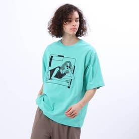 LINE ARTがーる Tシャツ (ライトグリーン)