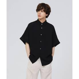 フレンチスリーブシャツ (ブラック)