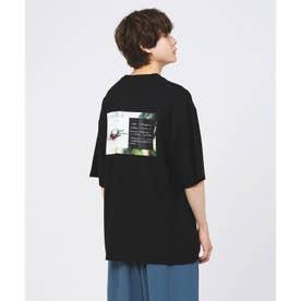 ドラゴンフルーツバックプリントTシャツ (ブラック)