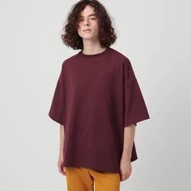 【WEB限定】ヘビーウエイトスクエアビッグTシャツ (ボルドー)