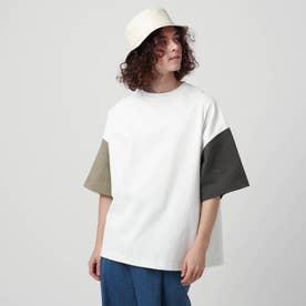 【WEB限定】ヘビーウエイトスクエアビッグTシャツ (オフホワイト×オフホワイト)