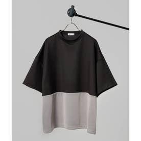 【WEB限定】スクエアビッグポンチTシャツ (ブラック×ブラック)