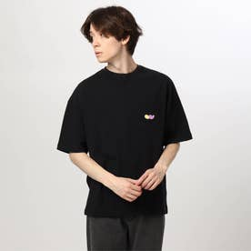 tk×FAT ANIMALS ワンポイント刺しゅうTシャツ (ブラック)