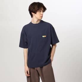 tk×FAT ANIMALS ワンポイント刺しゅうTシャツ (ネイビー)