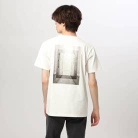 バックフォトTシャツ (オフホワイト)