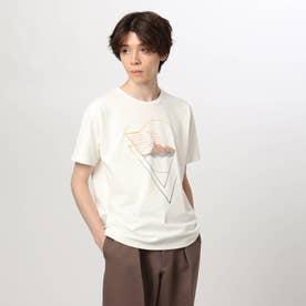 グラデグラフィックTシャツ (オフホワイト)