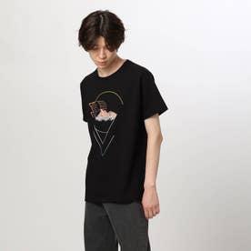 グラデグラフィックTシャツ (ブラック)