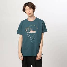 グラデグラフィックTシャツ (ブルー)