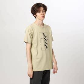 アートフラワーTシャツ (ベージュ)