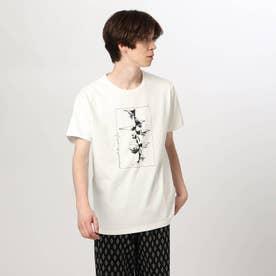 アートフラワーTシャツ (オフホワイト)