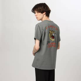 タイガー刺しゅうTシャツ (チャコールグレー)
