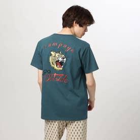 タイガー刺しゅうTシャツ (ブルー)