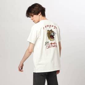 タイガー刺しゅうTシャツ (オフホワイト)