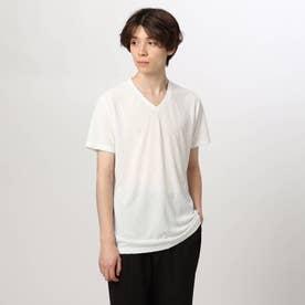 変形チドリジャカード半袖プルオーバー (オフホワイト)