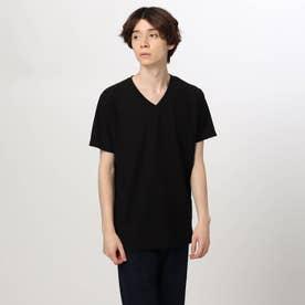 変形チドリジャカード半袖プルオーバー (ブラック)