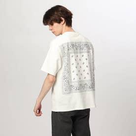 バンダナ貼り付けTシャツ (オフホワイト)
