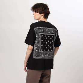 バンダナ貼り付けTシャツ (ブラック)