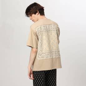 バンダナ貼り付けTシャツ (ベージュ)