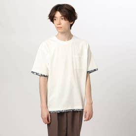 フェイクレイヤードTシャツ (オフホワイト)