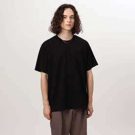 ドレスクルーネック半袖カットソー (ブラック)