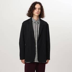 ジップポケットシャツジャケット (ブラック)