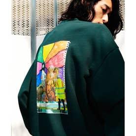 Eiji Fukui×コラボ コラージュプリントスウェット (モスグリーン)