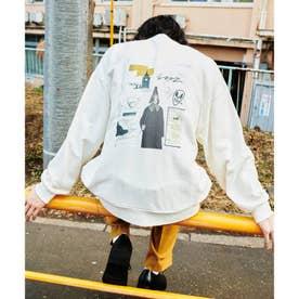 Eiji Fukui×コラボ コラージュプリントスウェット (オフホワイト)