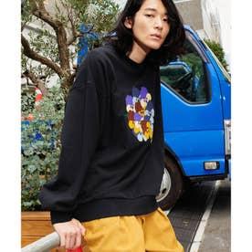 Eiji Fukui×コラボ ブーケクロス刺繍スウェット (ブラック)