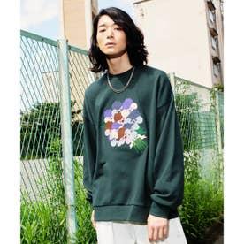 Eiji Fukui×コラボ ブーケクロス刺繍スウェット (モスグリーン)