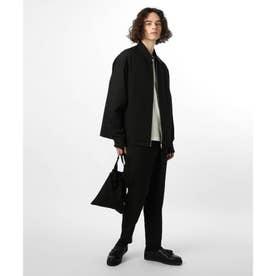【WEB限定】シンセティックウールセットアップ+サコッシュ(アウター+パンツ+バッグの冬コーデ3点セット) (ブラック)