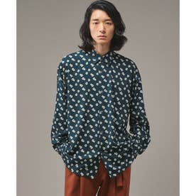 Eiji Fukui×コラボSmall Flowerシャツ (ダークグリーン)
