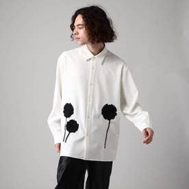 シルエットフラワーエンブロシャツ (オフホワイト)