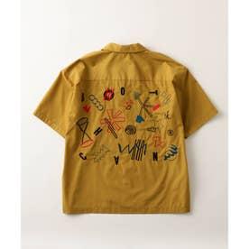 BOTCHAN×tk.TAKEO KIKUCHI「ちょっとそこに宇宙」ボウリングシャツ(ユニセックスアイテム) (マスタード)