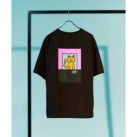 Eiji Fukui×コラボCAT&DOG Tシャツ (ブラック)