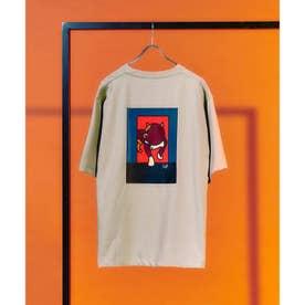 Eiji Fukui×コラボCAT&DOG Tシャツ (ベージュ)